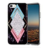 Misstars Coque en Silicone pour iPhone 5C Marbre, Ultra Mince TPU Souple...