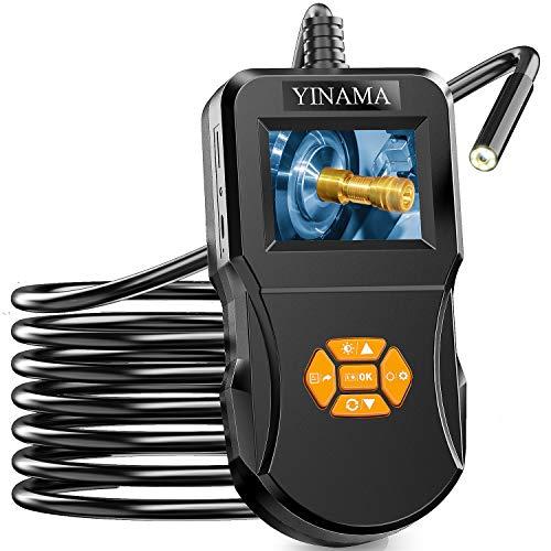 Endoscopio Industriale, Telecamera di Ispezione Digitale YINAMA Esclusivo Schermo IPS ad Alta Definizione da 2,4 Pollici 8 LED Borescope IP67 Tubo a Serpente Impermeabile Con Scheda SD 32G (16,4FT)