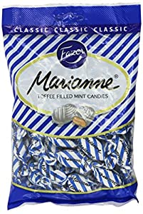 Fazer Marianne Toffee Filled Mint Candies Candy Has Hard Peppermint Shell With a Velvety Toffee Filling Combination Sweet Toffee and Refreshing Crisp Mint Perfect For All Occasions Approximately 48 Pieces Per Bag, Each Candy Individually Wrapped Impo...