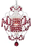 PAPAYA Red Crystal Mini Chandeliers Lighting Farmhouse lamp Ceiling Pendant Light for bedrooms…