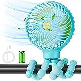Gifort Ventilateur USB, Mini Ventilateur Silencieux, Ventilateur Poussette Bébé, avec Trépied Flexible, Portable 3 Vitesse Réglable, pour Camping, Bureau,...