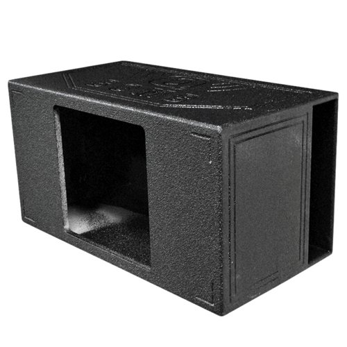 Q Power QBOMB15VL SINGLE SQ Single 15-Inch Side Vented Speaker Box for Kicker L7 Subwoofer with...