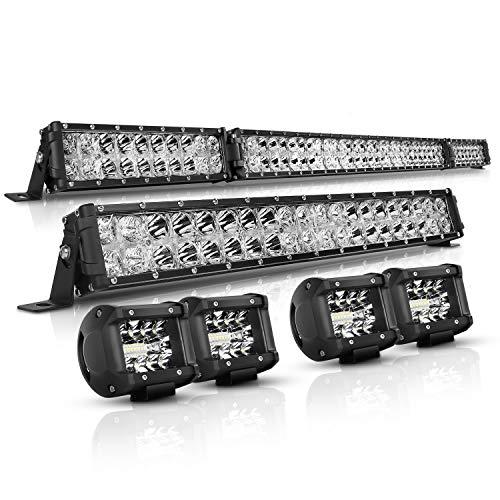 LED Light Bar Kit Autofeel 52 Inch + 22 Inch + 4PCS 4Inch 32000LM 6000K...