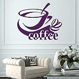 wopiaol Café Stickers Muraux Café Tasse Haricots Decal Cuisine Vinyle Autocollants Café...