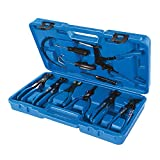 Silverline 984748 Juego de Alicates para Abrazaderas de Mangueras, Azul, 18-54 mm