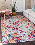 Unique Loom Chromatic Collection Modern Abstract Colorful Kids Multi Area Rug (4' 0 x 6' 0)