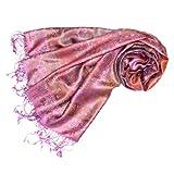 LORENZO CANA Pashmina pour la femme - écharpe de 100% soie avec les mesures de...