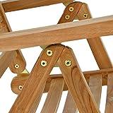 DIVERO Stuhl Teak Holz klappbar massiv Gartenstuhl Teakstuhl Holzstuhl behandelt - 4