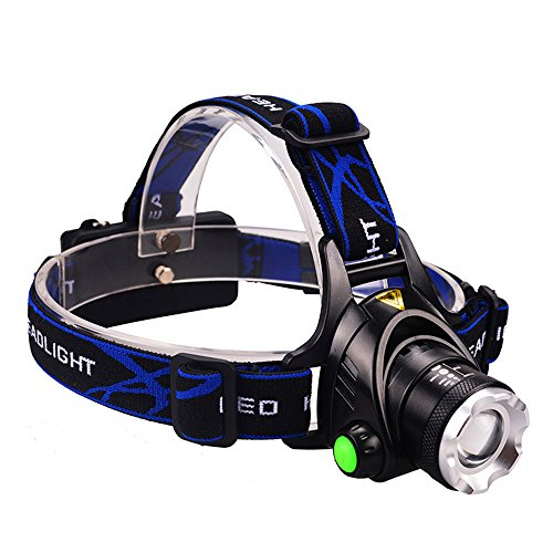 GRDE Headlamp, Zoomable Brightest High LED Work Headlight 3 Modes with...