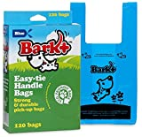 Bark 120 Count Dog Waste Bags with Handle, Blue