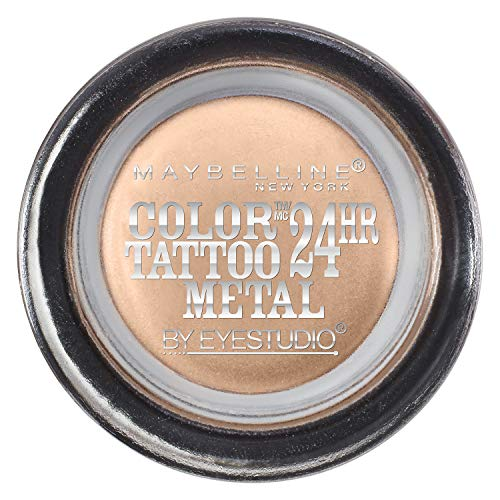 Maybelline New York Eyestudio ColorTattoo Metal 24HR Cream Gel Eyeshadow, Barely Branded, 0.14 oz.