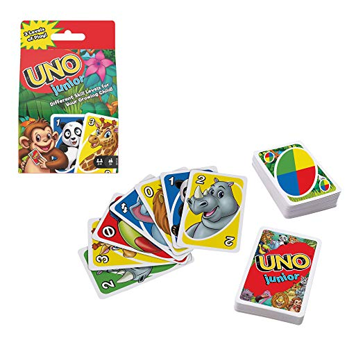 Mattel Games ​UNO Junior Card Game with 45 Cards, Gift for Kids 3 Years Old...