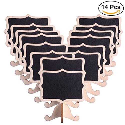 ULTNICE Lavagnette promemoria Mini lavagna rettangolare Lavagnette messaggi da tavola per le feste...