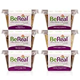 BeReal Doughs Edible and Bakeable Cookie Dough | Organic Gluten-Free and Plant-Based, Ready to Eat and Bakeable | Allergen Friendly | 6 Snack Pack | 24 Oz