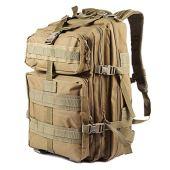 NACATIN Tactical Military Backpack for Men, 45L Military Molle Bag Backpacks Rucksacks for Outdoor Hiking Camping Trekking Hunting (Khaki)