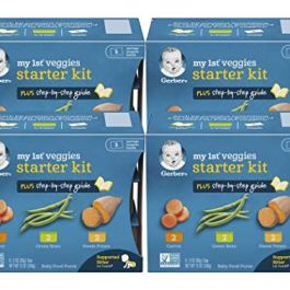 Gerber My 1st Veggies Starter Kit Carrot, Green Bean & Sweet Potato, 12 OZ