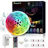 Ruban LED Etanche 5M, Romwish Bleutooth Bande LED SMD 5050 RGB Multicolore...