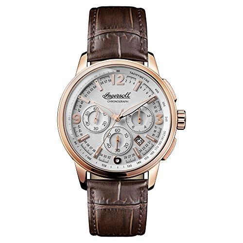 Ingersoll Herren Analog Quarz Uhr mit Leder Armband I00101