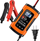 5 Amp 12V Automotive Smart Battery Charger/Maintainer for Car, Motorcycle, Lawn Mower, Boat, RV,...