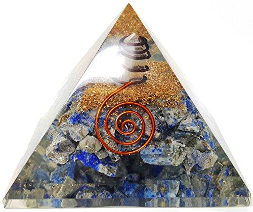 Auramore Lapis Lazuli Crystal Orgone Pyramid Kit/Includes 4...