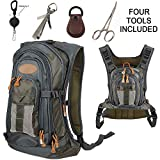 Aventik Fly Fishing Compact Backpack Chest Pack One Size for All Outdoor Sports Fishing Bag with Chest Pack Tool Combo.