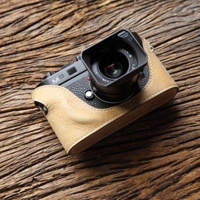 cam-in (カムイン) カメラケース ライカ LEICA M8、M9用 イタリアンレザー (CA027シリーズ(アプリコット))
