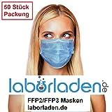 Mundschutz mit Ohrschlaufen, medizinische Zwecke, Staubschutz, 3-lagig, für Erwachsene, 50 Stück