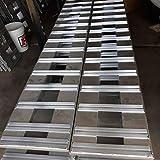 Set of 2. 8' Aluminum Ramps for Heavy Equipment Skid Steer Tractor Car ATV Truck Trailer Ramps 2 RAMPs = 10,000lb Capacity 96' (8') Long (96) Br Premium Material