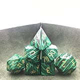 Amatolo Stone Dice Set of 7 Handmade Gemstones Dices for DND RPGs ,Dungeons & Dragons Game...