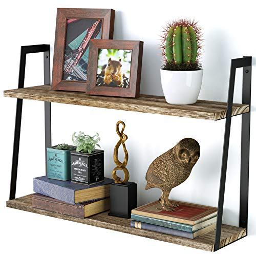 SRIWATANA Floating Wall Shelves, 2-Tier...