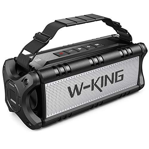 Cassa Bluetooth, W-KING 50W(Picco 70W) Altoparlante Bluetooth Portatili, 24 Ore di Riproduzione Speaker, 8000mAh Batteria Power Bank, IPX6 Casse Impermeabile con Bassi, NFC, TWS, Carta di TF