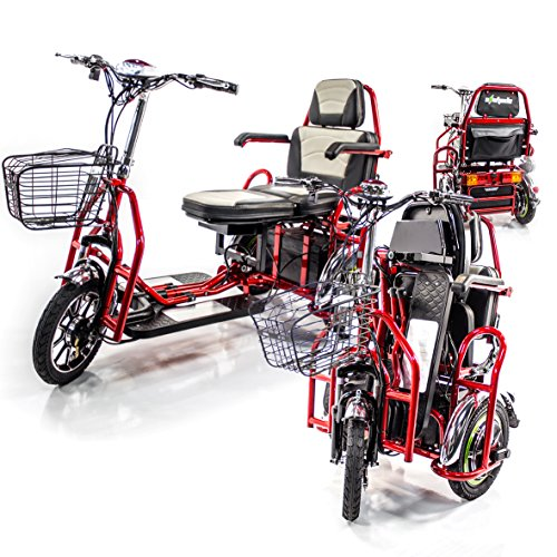 EWHEELS EW-02 Folding Electric 2-Seater Scooter + Challenger Mobility Cover