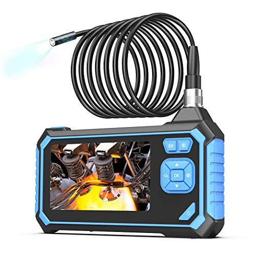 Industrial Endoscope,SKYBASIC 1080P HD Digital Borescope 4.3 Inch LCD 1.6-198inch Focal Distance Snake Camera 2600mAh Video Inspection Camera with 8GB TF Card16.5FT