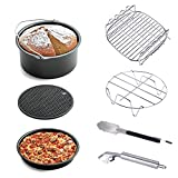 Air Fryer Accessories 7pcs for Gowise Phillips and Cozyna, fit all 3.7QT 5.3QT with 7 Inch Diameter by KINDEN