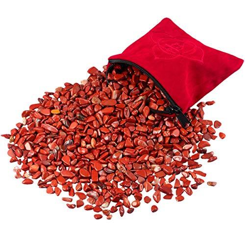 SUNYIK Natural Red Jasper Tumbled Chip Stone, Root Chakra...