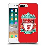 Head Case Designs Officially Licensed Liverpool Football Club Red 1 Crest 1 Soft Gel Case Compatible with Apple iPhone 7 Plus/iPhone 8 Plus