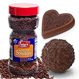 Lieber's Chocolate Sprinkles | Tasty Chocolate Jimmies Are A Great Dessert Topping For Cooking, Baking & Decorating Ice Cream | 11 Ounces