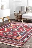 nuLOOM Tassel Lucile Wool Rug, 5' x 8', Burgundy
