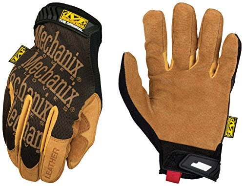 Mechanix Wear - Leather Original Gloves (Large, Brown/Black)