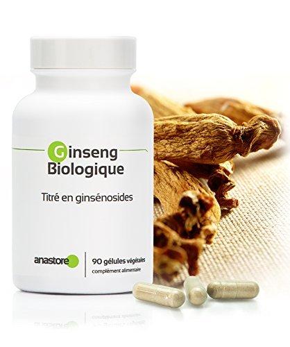 ROTER BIO-GINSENG * 200 mg / 90 pflanzliche Kapseln * Extrakt aus roter koreanischer Öko-Ginsengwurzel titriert auf insgesamt 15 % Ginsenoside * Emotionales Gleichgewicht, Energie, Vitalität
