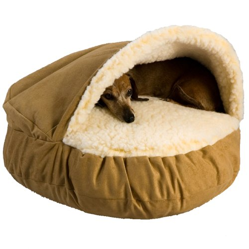 Snoozer Luxury Cozy Cave, Camel, Large