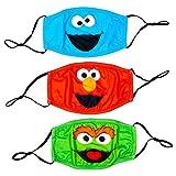 Sesame Street Adult Reusable Cloth Face Masks 3-Pack