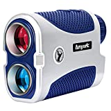Anyork Golf Rangefinder 6X Laser Range Finder 1500 Yard with Slope On/Off,Flag-Lock Tech with Vibration, Continuous Scan Support-with Battery