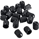 Outus Plastic Tyre Valve Dust Caps for Car, Motorbike, Trucks, Bike and Bicycle, 20 Pack (Black)
