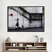 TYDH Graffiti, Arte Moderno, Pintura callejera, lienzos de Animales, Carteles e Impresiones, Cuadros de Arte de Pared, decoración del hogar B EE sin Marco 16x24inch(40x60cm)
