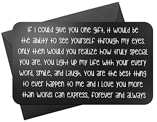 Engraved Wallet Love Note - Cute Anniversary Gifts for Him,...