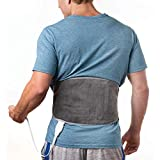 Pure Enrichment PureRelief Lumbar & Abdominal Heating Pad - Fast Heating Technology with 4 Heat Settings, Adjustable Belt, Hot/Cold Gel Pack and Storage Bag - Ideal for Back Pain and Abdominal Cramps