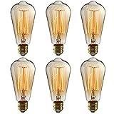 Ampoule LED Edison E27, 6 pack Ampoule Edison Vintage Ampoules à incandescence...