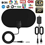 Antenna TV Digital HD Indoor, 2020 Amplifier TV Antennas for Digital TV 100 to 200 Mile Range HDTV Antenna Support 4K 1080p