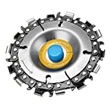 4 Inch Grinder Chain Disc 14 Tooth 5/8 Inch Arbor Wood Carving Disc For 100/115 Angle Grinder
